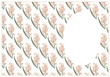Hyacinth Spring Flower - BACKING SHEET - Part of the Fancy Floral Disc2 Range - Other Matching Items include PTO125 PTO126 PTO128 . -Jacksons mail Order