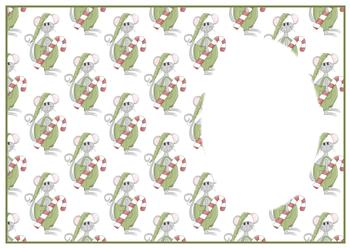 Christmas Mouse with Sweet Treat - Insert Sheet - . -Jacksons mail Order