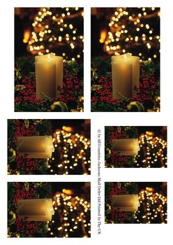 Warm Festive Christmas Candles - Topper Sheet -Jacksons mail Order