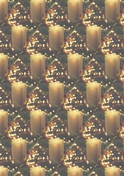 Warm Festive Christmas Candles - Background Sheet -Jacksons mail Order