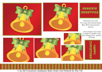 Perfectly Simple - Christmas Bell - PYRAMID SHEET -Jacksons mail Order