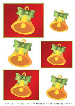 Perfectly Simple - Christmas Bell - TOPPER SHEET -Jacksons mail Order