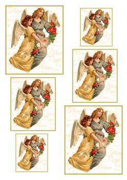 A4 Christmas Angels Pyramid Sheet . *
