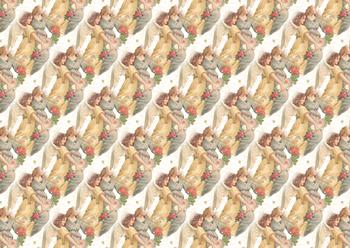 A4 Christmas Angels Background Sheet . *