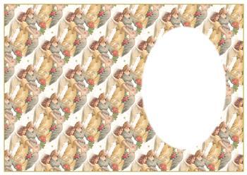 A4 Christmas Angels Insert Sheet . *