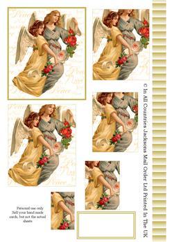 A4 Christmas Angels Pyramid Sheet 2 . *