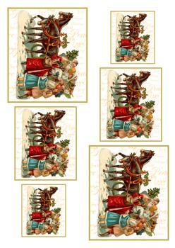A4 Christmas Horse Drawn Sleigh 1 *