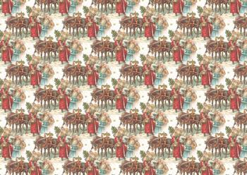 A4 Horse Drawn Sleigh Background Sheet *