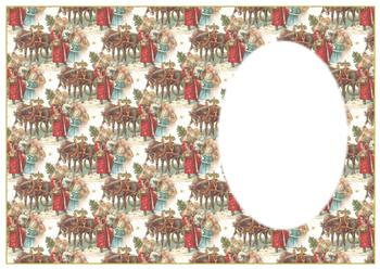 A4 Horse Drawn Sleigh Insert Sheet *