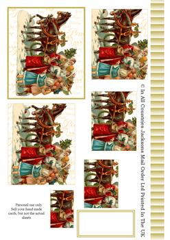 A4 Horse Drawn sleigh Pyramid Sheet 2 *