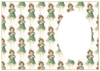 A4 Vintage Christmas Girl - Insert Sheet *