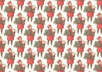 A4 Vintage Christmas Boy - Background Sheet *