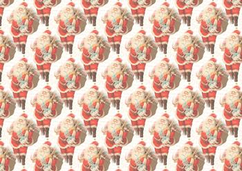 Father Christmas with Presents - Background Sheet *