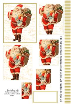 Father Christmas with Presents - Pyramid Sheet 2 *