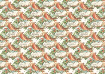 Christmas Robin -  Background Sheet *