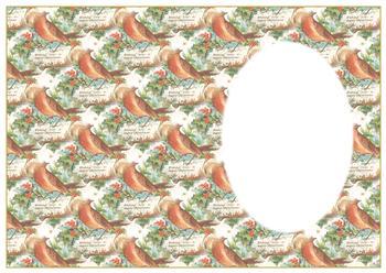 Christmas Robin - Insert Sheet *