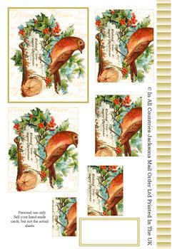 Christmas Robin - Pyramid Sheet 2 *