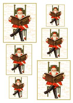 A4 Santa's Christmas Book - Pyramid Sheet 1 *