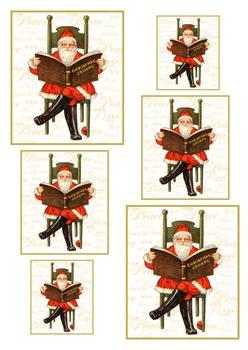 A4 Santa's Christmas Book - Pyramid Sheet 1 . *