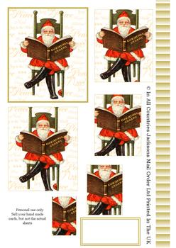 A4 Santa's Christmas Book - Pyramid Sheet 2 *