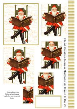 A4 Santa's Christmas Book - Pyramid Sheet 2 . *