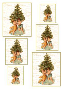A4 Cherubs around the Christmas Tree - Pyramid Sheet 1 . *