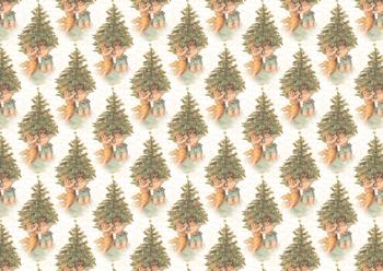 A4 Cherubs around the Christmas Tree - Background Sheet *