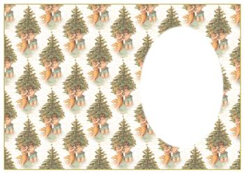 A4 Cherubs around the Christmas Tree - Insert Sheet *