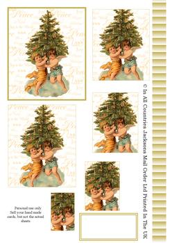 A4 Cherubs around the Christmas Tree - Pyramid Sheet 2 . *