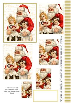 Sitting on Santa's Lap - Pyramid Sheet 2 *