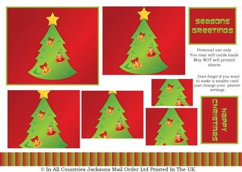 A4 Christmas Tree - Pyramid sheet . *