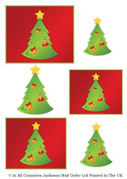 A4 Christmas Tree - Topper Sheet *