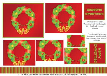 A4 Christmas Wreath - Pyramid Sheet . *