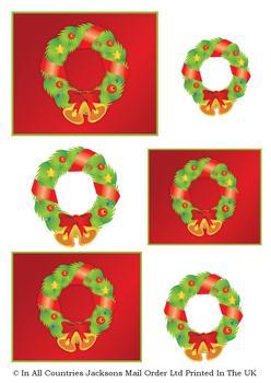 A4 Christmas Wreath - Topper Sheet . *
