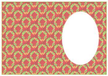 A4 Christmas Wreath - Insert Sheet *