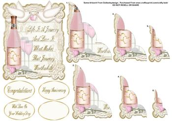Pink Champagne Corner Stacker - Papertole Exclusive Sheet . *