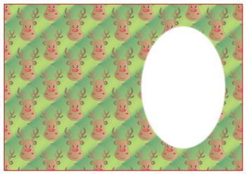 Rudolph Reindeer - A4 Insert Sheet *