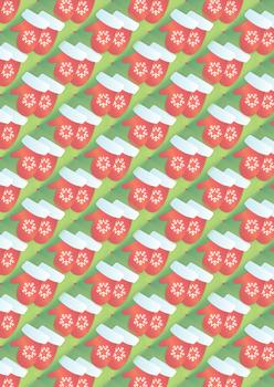 Christmas Mittens - A4 Background sheet *