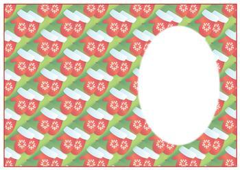 Christmas Mittens - A4 Insert sheet *