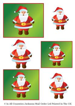 Cute Father Christmas - A4 Topper Sheet *