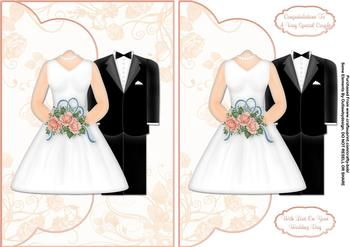 Bride & Groom A5 Card Front - Papertole Exclusive Sheet . *