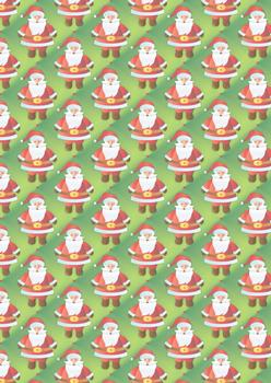 Cute Father Christmas - A4 Background Sheet *