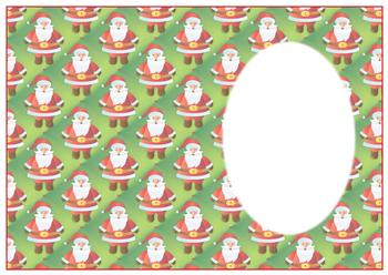 Cute Father Christmas - A4 Insert Sheet *