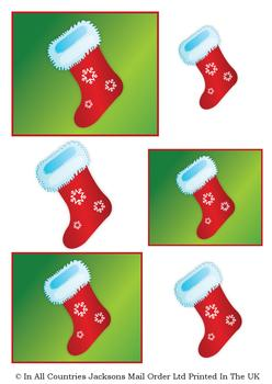 Christmas Stocking - A4 Topper Sheet *