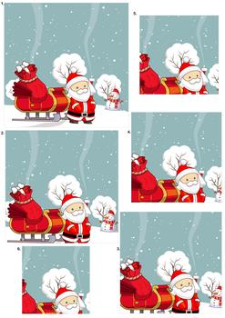 Cute Santa Pyramid Sheet - *