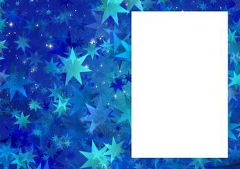 Christmas Stars - Insert in Blue *