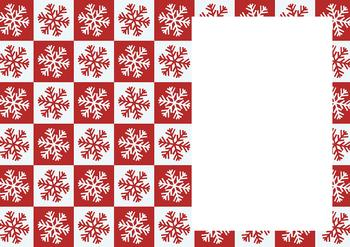 Red & White Snowflakes - Christmas Insert Sheet *