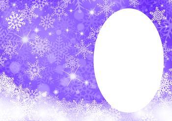Purple/Lilac Snowflake Christmas Insert Sheet *