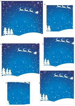 Christmas Sky Scene - Pyramid Sheet *