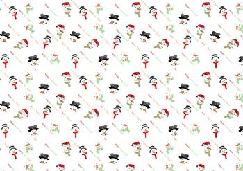 Christmas Snowmen A4 Background Sheet . *
